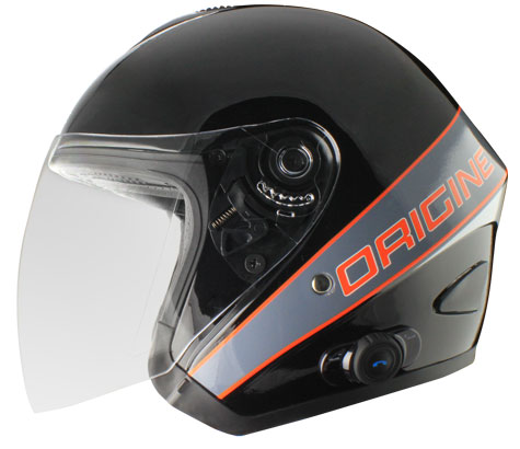 Origine Tornado Maestrale jet helmet with intercom Blink G2
