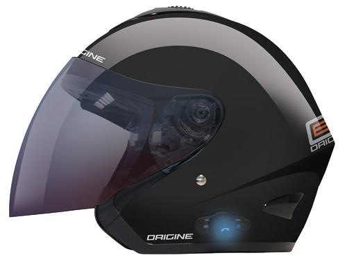 Casco moto jet Origine TORNADO con Bluetooth integrato Nero