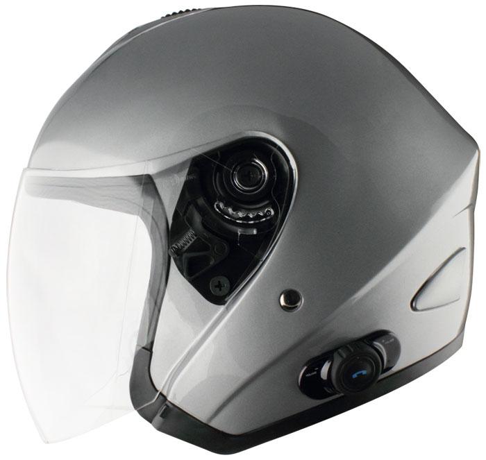 Origine Tornado jet helmet with intercom Blink G2 Silver