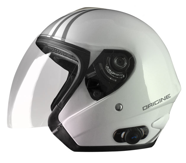 Origine Tornado Tango jet helmet with intercom Blink G2