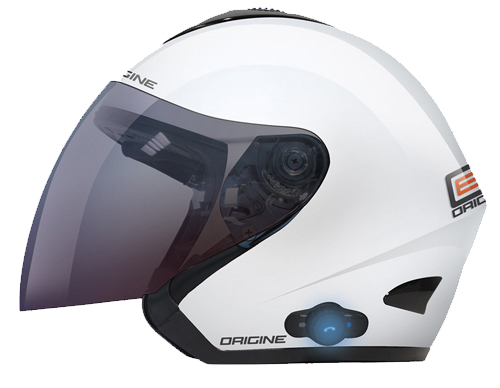 Origine TORNADO open face helmet with Bluetooth White