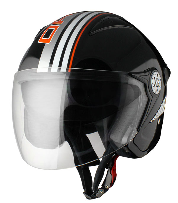 Origine Falco Brera Jet Helmet Black Orange
