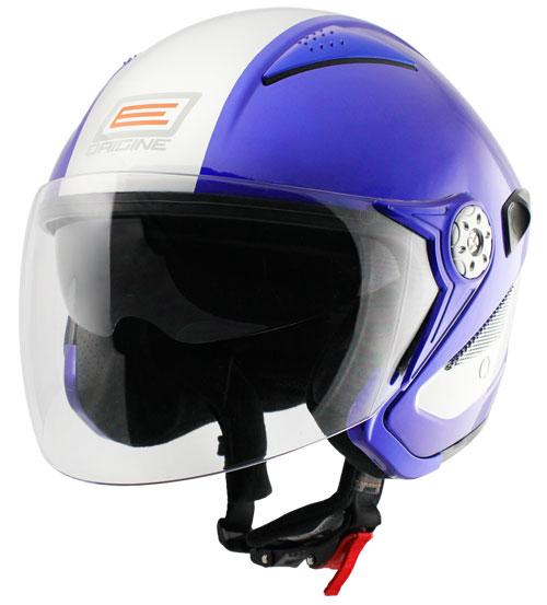 Origine Falco Retrò Jet Helmet Blue Silver