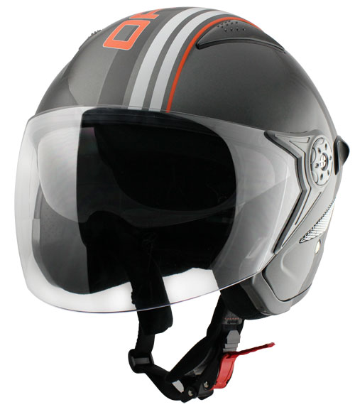 Casco jet Origine Falco Brera Antracite