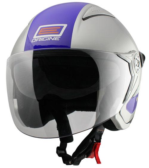 Origine Falco Retrò Jet Helmet Silver Blue