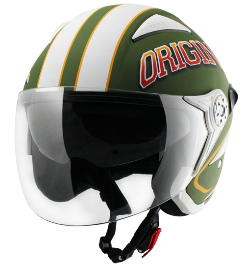 Origine Falco College Jet Helmet Green