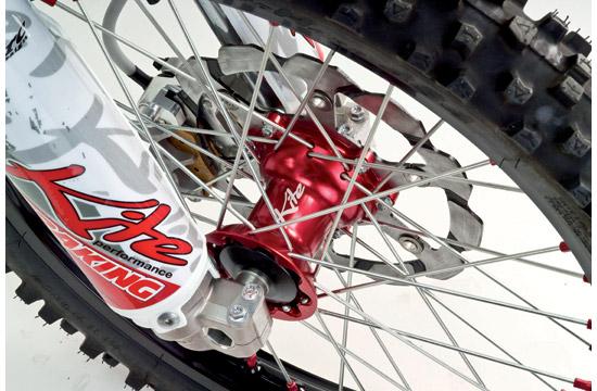 Ruota anteriore Kite MX Enduro 160x21 Kawasaki Rosso