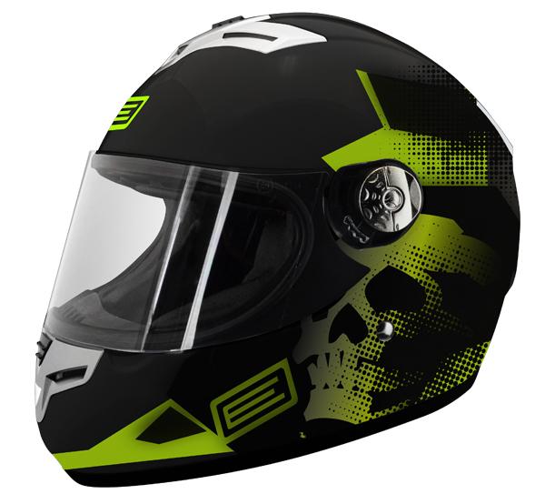 Source Goliath Green Skull Full Face Helmet