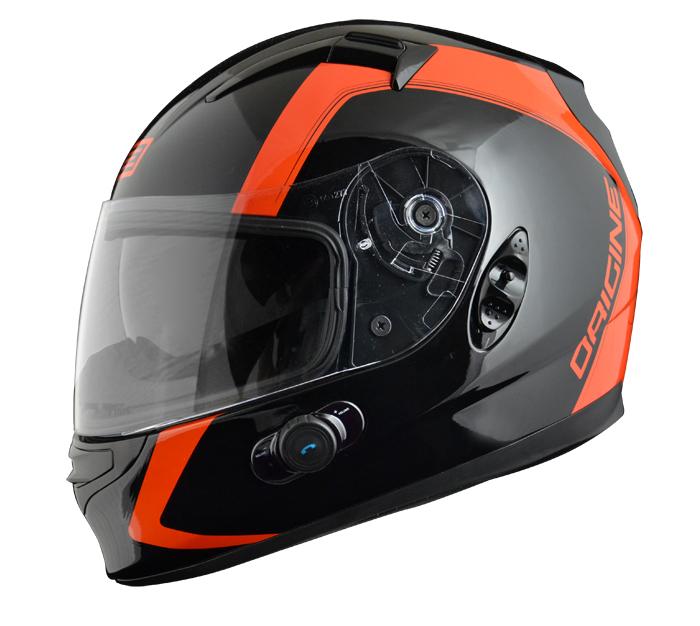 Full face helmet with intercom Origin Wind 2 spline Blinc G2 Ar