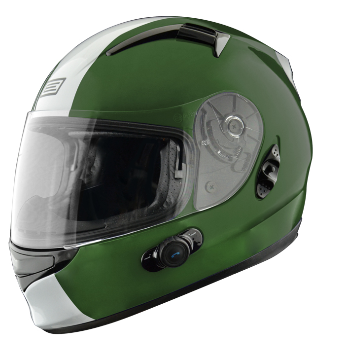 Full face helmet with intercom Origin Wind 2 Tony Blinc G2 Verd