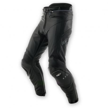 Pantaloni moto pelle Clover Triforce Livello 2 Nero