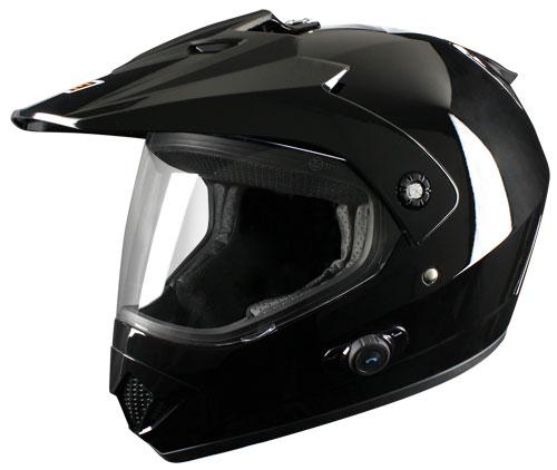 Origine Gladiatore Enduro Helmet with Blinc intefono G2 Black