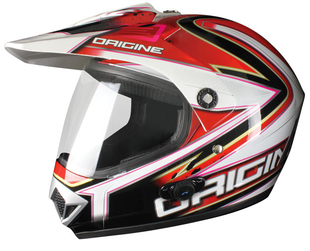 Casco enduro Origine Gladiatore Conquistator interfono Blinc G2
