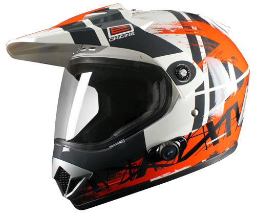Casco enduro Origine Gladiatore Dakar con interfono Blinc G2