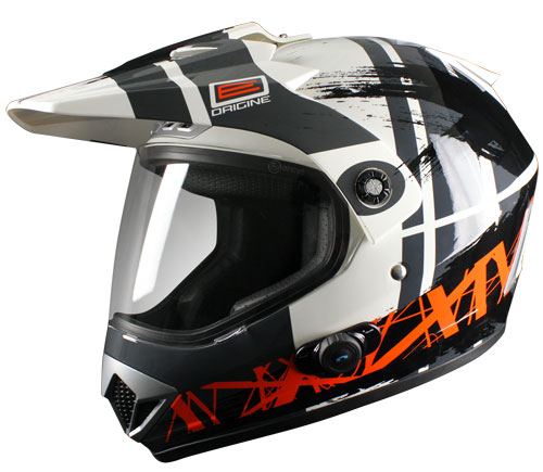 Origine Gladiatore Dakar Enduro Helmet intercom Blinc G2 Blac