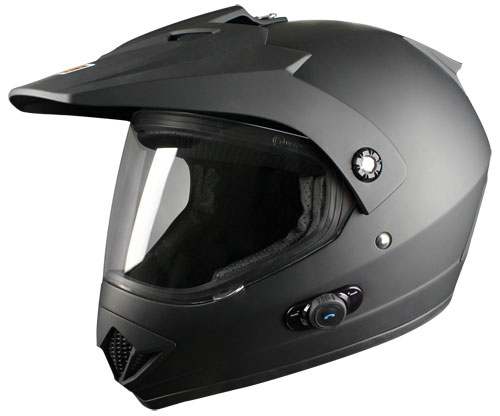 Origine Gladiator Enduro Helmet with Blinc intefono G2 Matte Bla