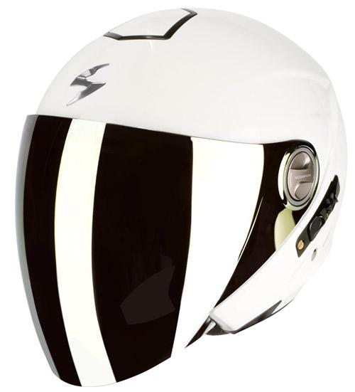 Casco moto jet Scorpion Exo 210 Air Bianco