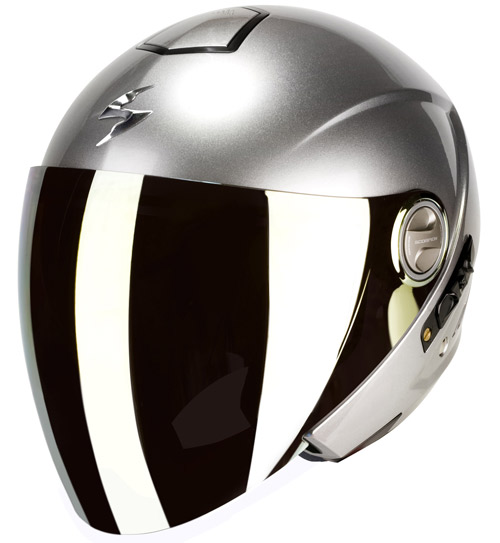 Scorpion Exo 210 Air jet helmet Hypersilver