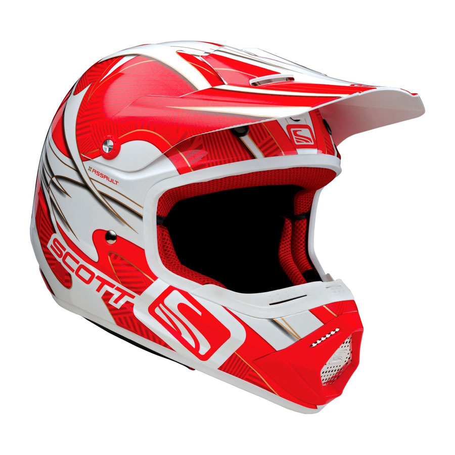 Scott 250 Vapor Red Cross helmet