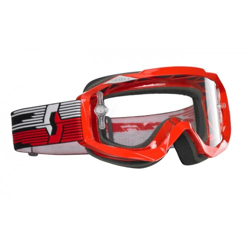 Scott Hustle MX off road goggles Red