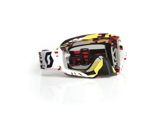 Scott Hustle MX Canard off road goggles White Yellow
