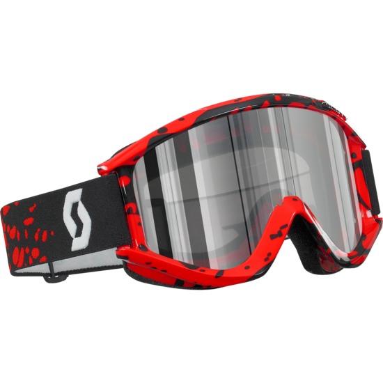 Occhiali moto cross Scott RecoilXi Pro Rosso-ArgentoCromo