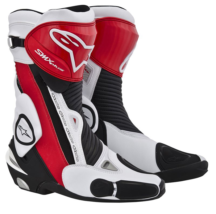 Stivali moto Alpinestars S-MX Plus Nero Rosso Bianco