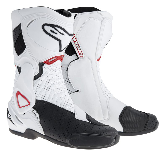 Stivali moto Alpinestars SMX 6 Vented Bianco Nero Rosso
