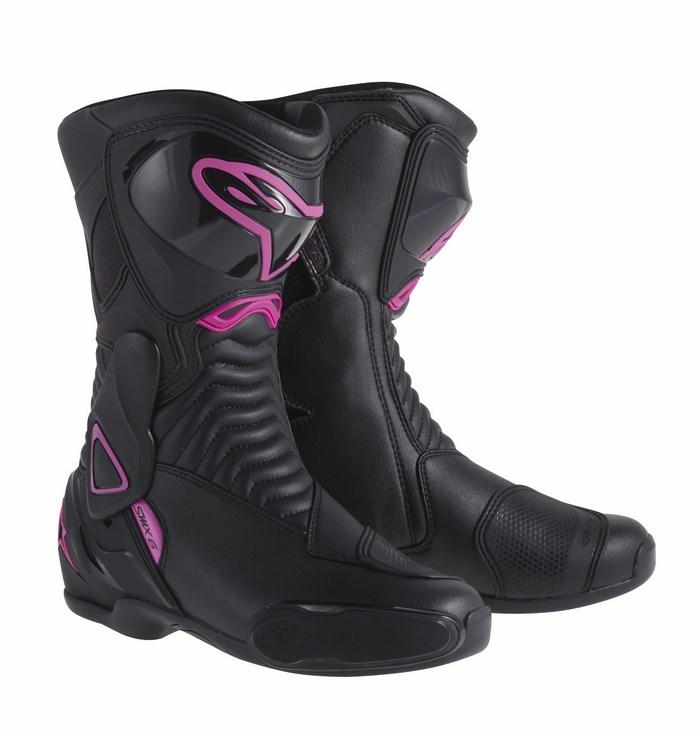 Stivali moto donna Alpinestars Stella S-MX 6 nero rosa