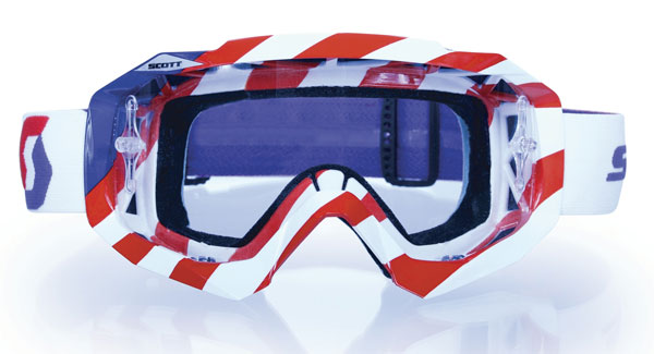 Scott Hustle MX MXDN off road goggles White Red