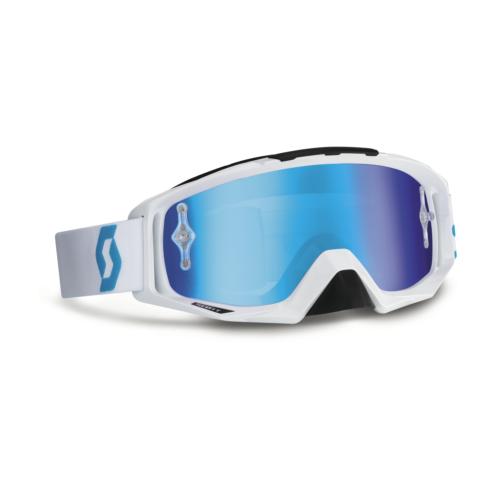 Scott Oxide Tyrant cross goggles White Blue
