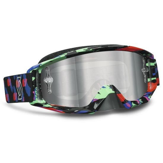 Scott Tyrant Goggles Cross Red Green Silver Chrome