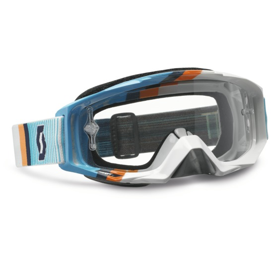 Scott Tyrant Goggles Cross Fade White Blue