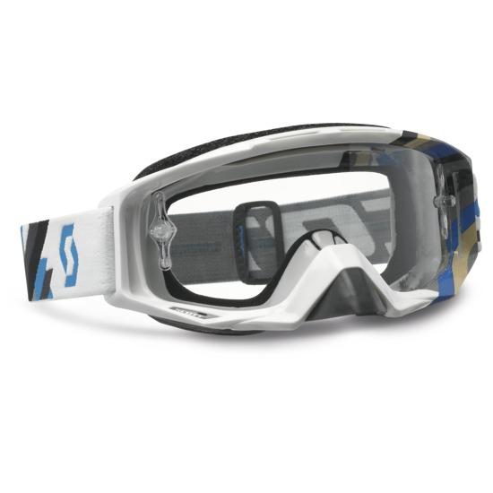 Scott Tyrant Goggles cross Linear White Blue