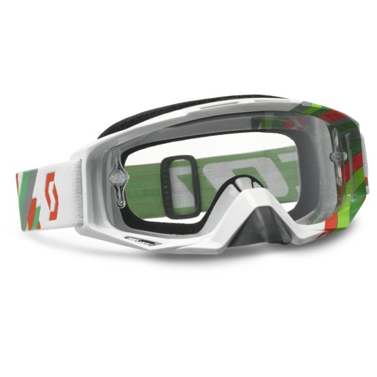 Scott Tyrant Goggles cross Linear White Green