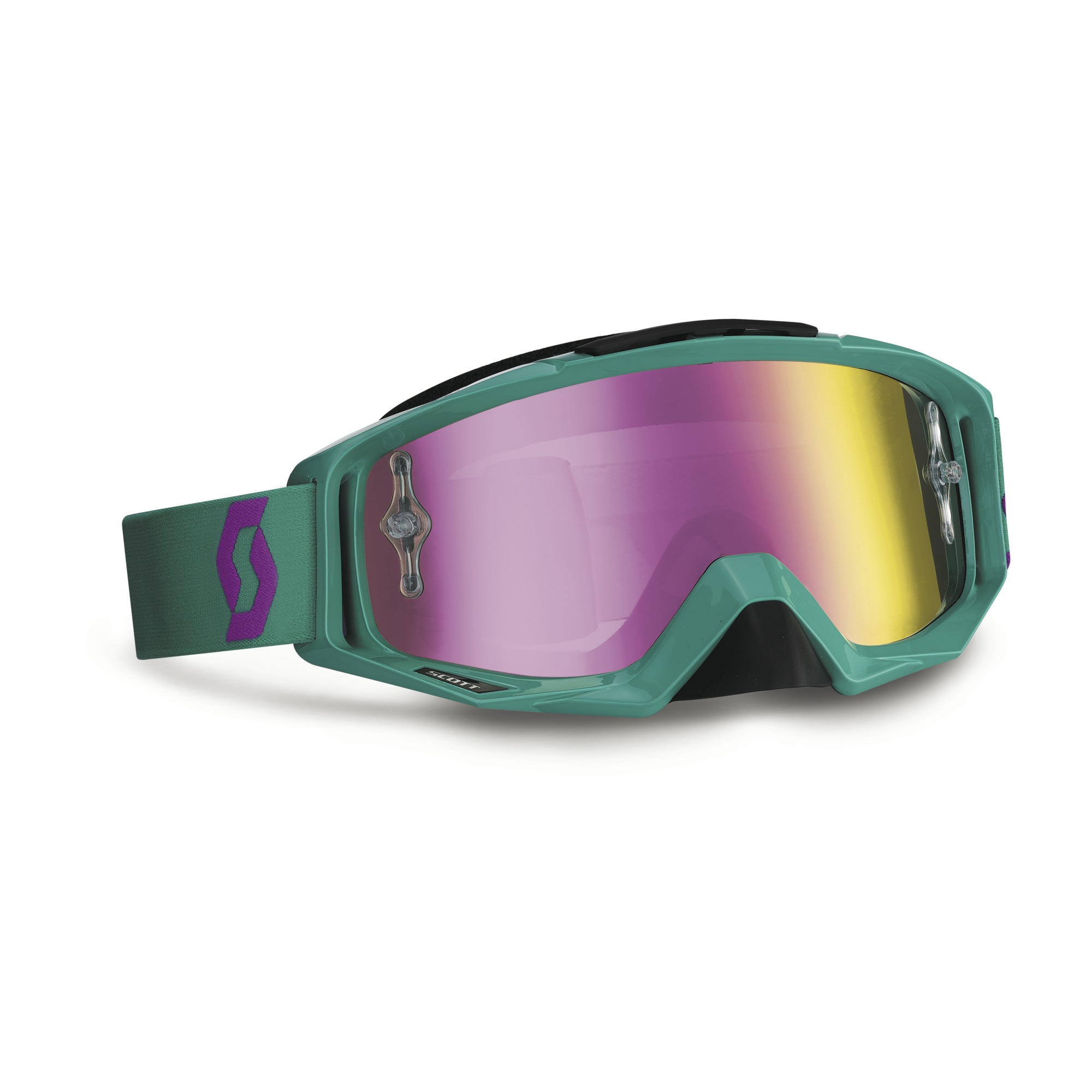 Scott Oxide Tyrant cross goggles Green Purple