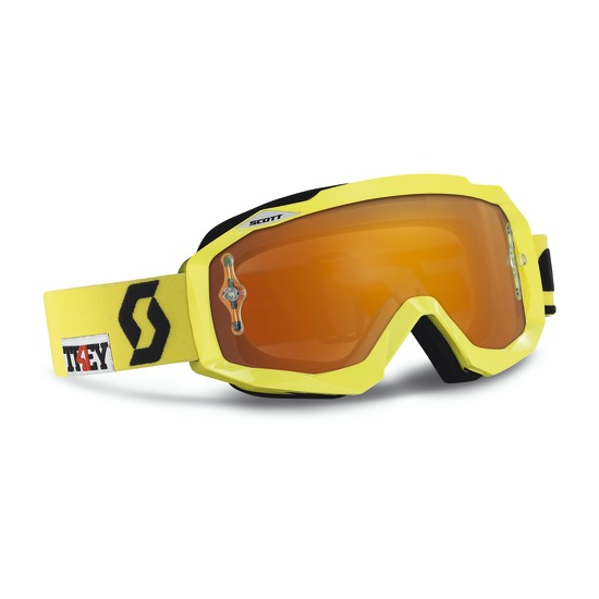 Scott Hustle MX Goggles cross Oxide Yellow