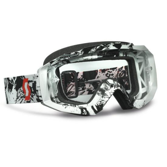Scott Hustle MX goggles Tiger Black White