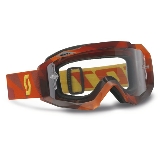 Scott Hustle MX Goggles Abstract Red Cross