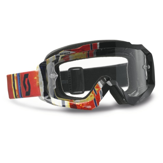 Scott Hustle MX Goggles cross Pixel Black Red