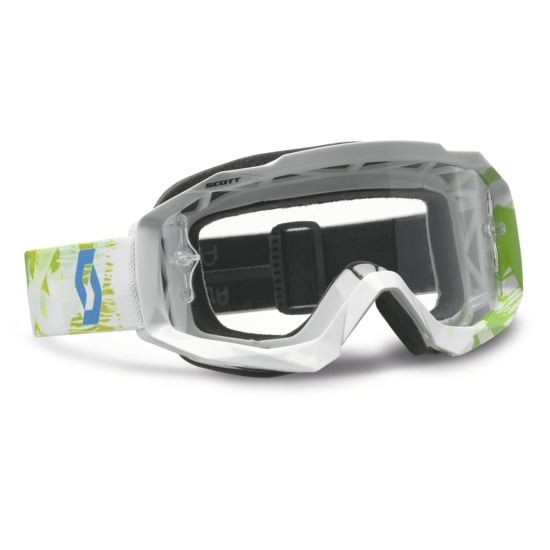 Scott Hustle MX Goggles cross Scribble White Green