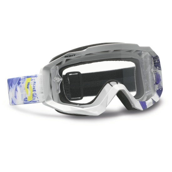 Scott Hustle MX Goggles cross Scribble White Purple