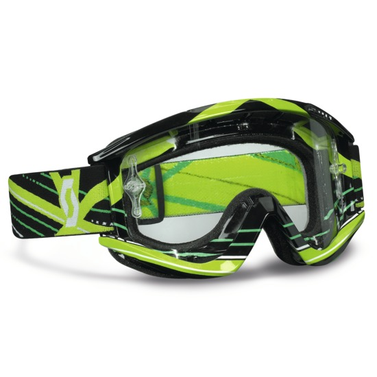 Scott Motocross Goggles RecoilXI Pro Grid Lock Black Green