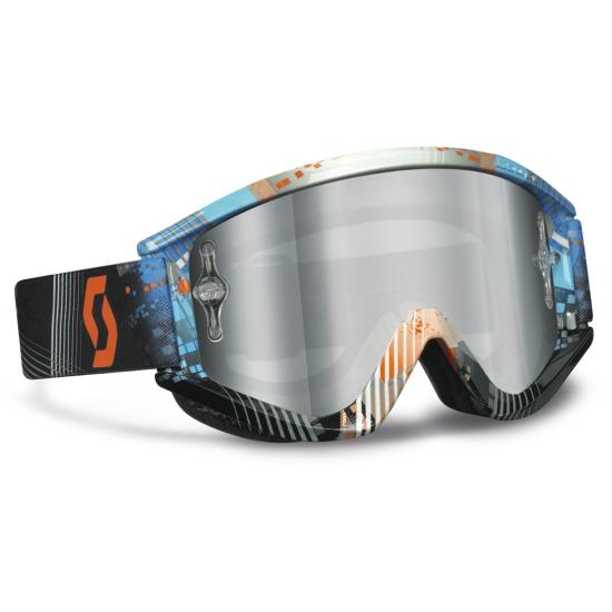Occhiali Scott Recoil XI Pro Tangent Blu Arancio lente Silver