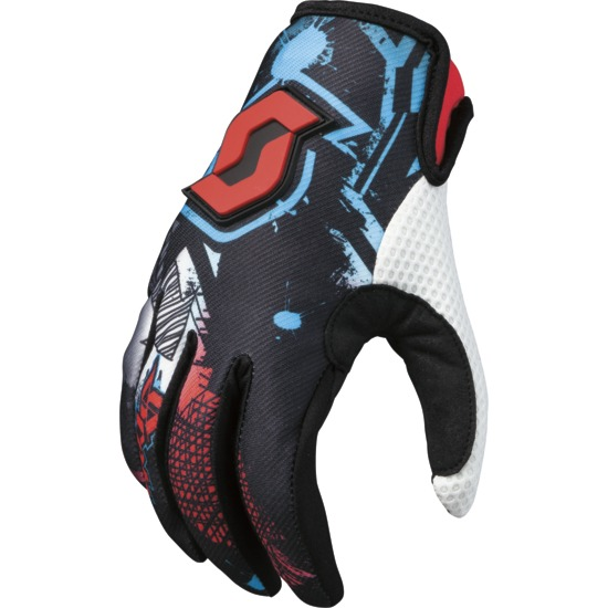 Artist kid Motocross glove Scott Black / Red
