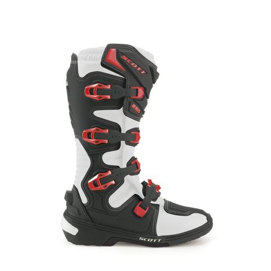 Scott 250 Boots Black Red cross
