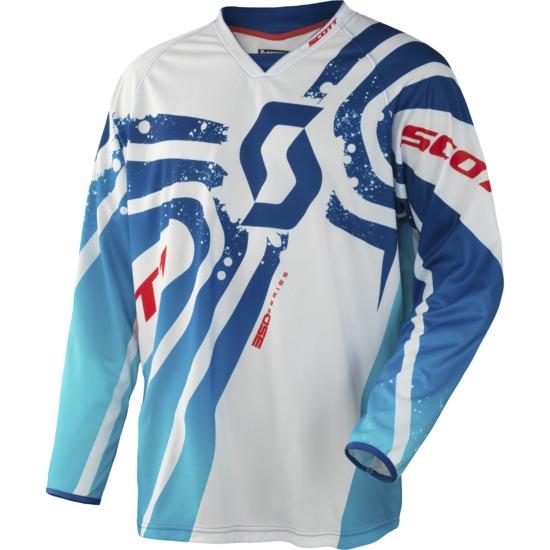 Scott 350 Jersey cross Tactic Blue White