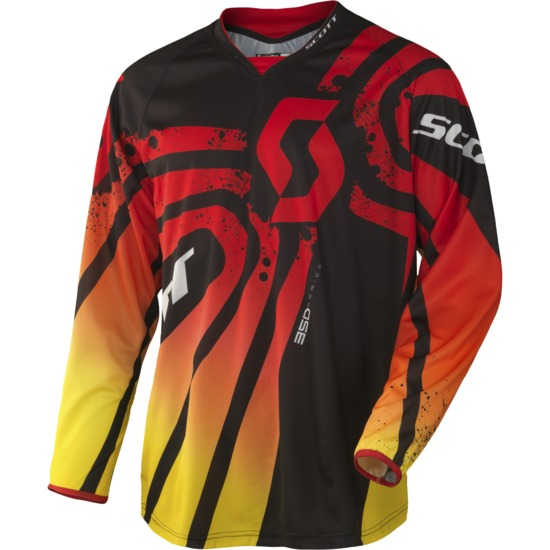 Scott 350 Jersey cross Tactic Red Black