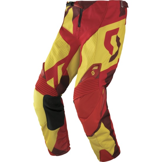 Pantaloni cross Scott 450 Cubic Giallo Rosso