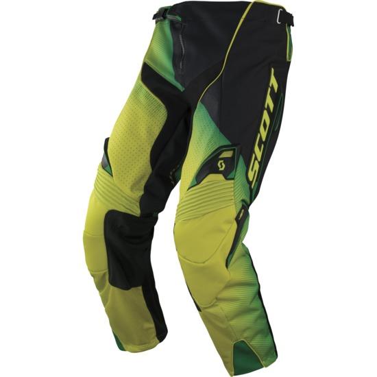 Pantaloni cross Scott 450 Fission Nero Verde